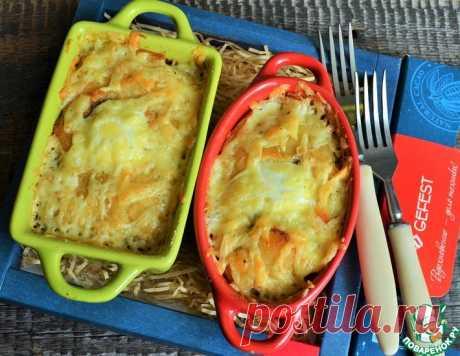 Картофельная запеканка с фаршем и грибами – кулинарный рецепт