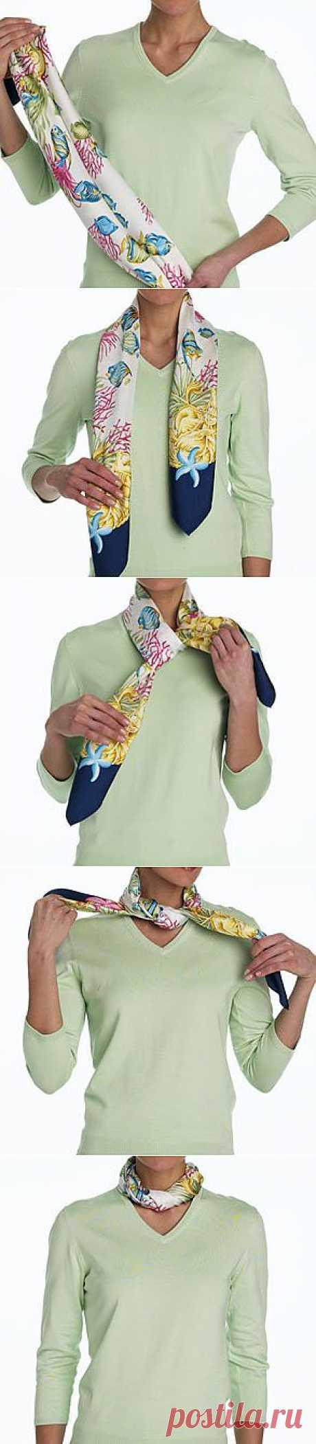 (+1) - Как красиво повязать шарф | Очумелые ручки
