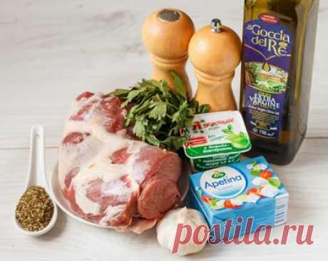 Рецепт запеченного бараньего окорока с соусом из феты на Вкусном Блоге