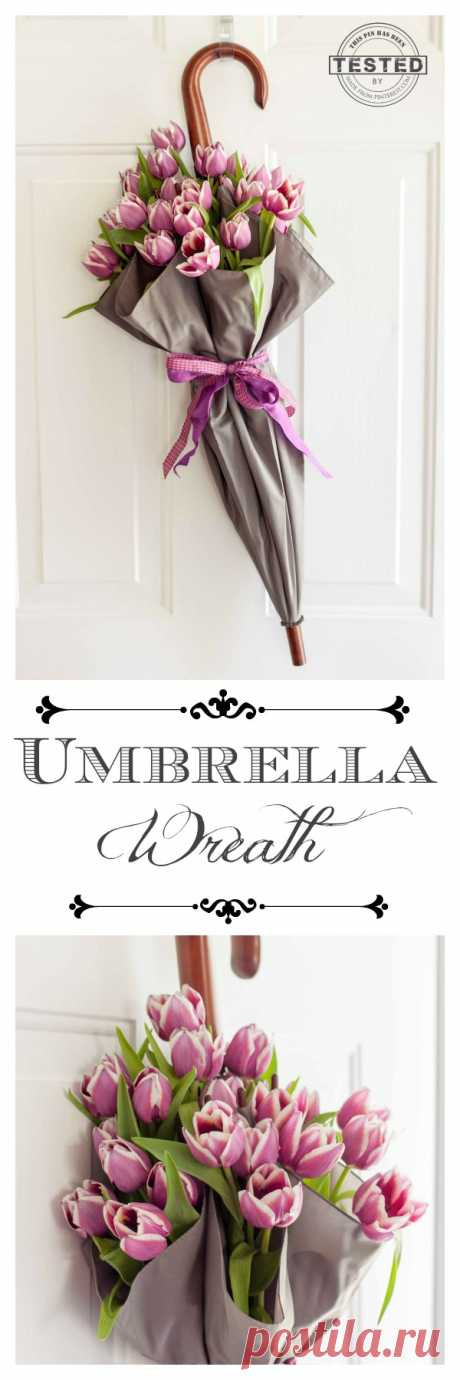 Umbrella Wreath - TGIF - This Grandma is Fun