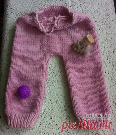 Вязаные детские штанишки спицами. Работа Валерии, Вязание для детей