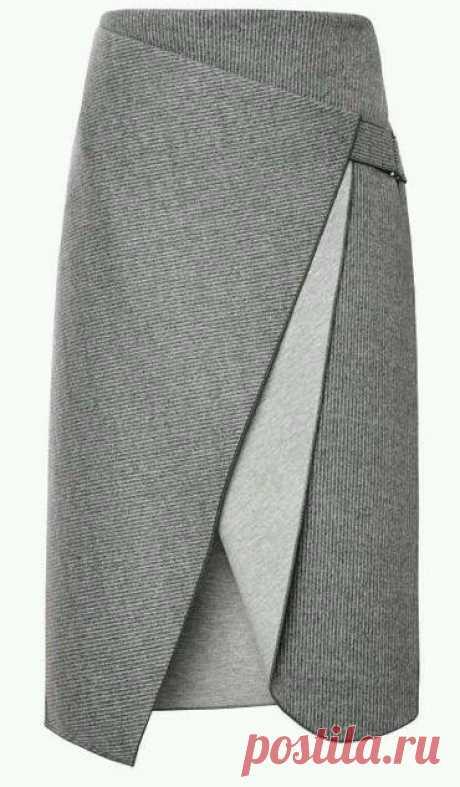 Очень красивая креативная юбка с запахом. Выкройки