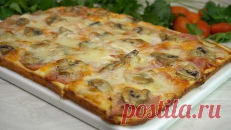 Пицца на жидком тесте: специально для него держу кефир в холодильнике | Готовим с Калниной Натальей | Яндекс Дзен