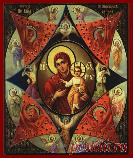 El icono De Neopalimaya Kupina el significado, en que ayuda
