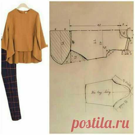 Блуза со швами вперёд (выкройки) / Простые выкройки / ВТОРАЯ УЛИЦА