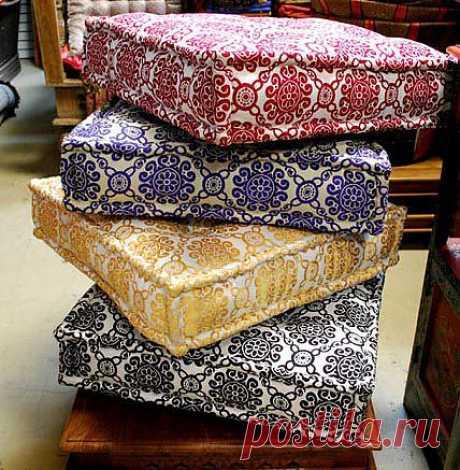 (+1) - Напольные подушки для комфорта   СДЕЛАЙ САМ!