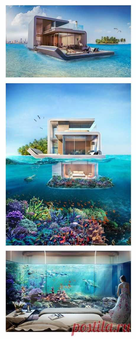 ¡Miren que casa flotante han inventado construir en los emiratos árabes! Los tales inmuebles que nada, o que nada plavayuschest... vobschem se sorprendemos.