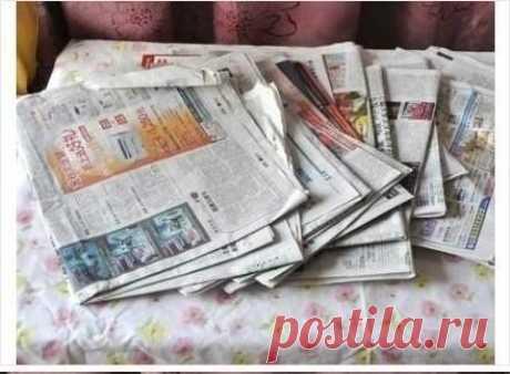 Тумбочка из газет