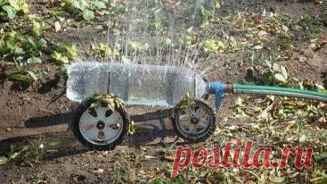 Идея для дачи - как опрыскивать в жару растения