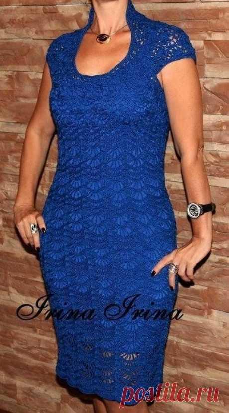 Красивое платье крючком. Схемы вязания (Вязание крючком) | Журнал Вдохновение Рукодельницы