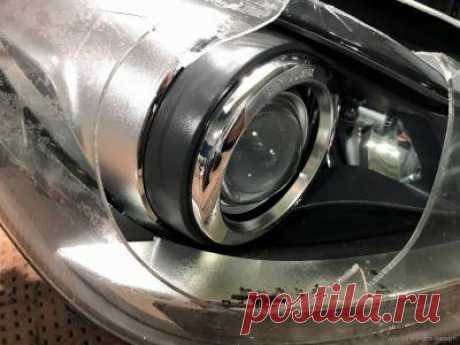 Замена разбитого стекла фары Mercedes-Benz C-Class w204 | СТО Car-Light.Design автосвет Киев