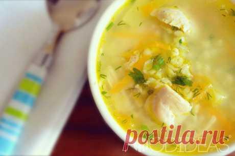 Куриный суп с булгуром - рецепт приготовления с фото