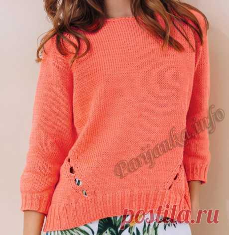 Пуловер (ж) 18*140 Phildar №5000
