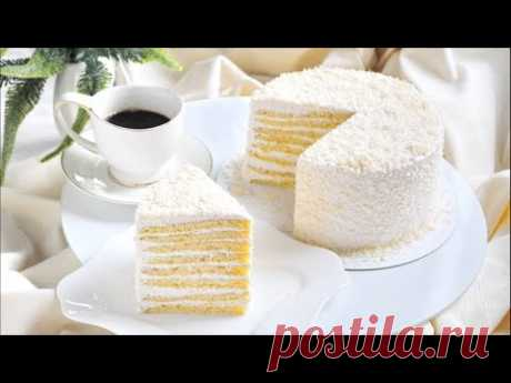 Торт Молочная Девочка 🌟 Простой рецепт вкусного торта с йогуртовым кремом 🌟 - YouTube