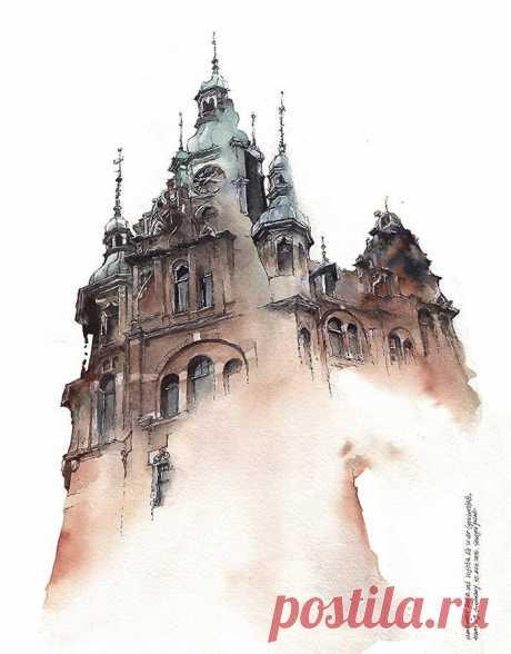 Восхитительные архитектурные акварели корейской художницы