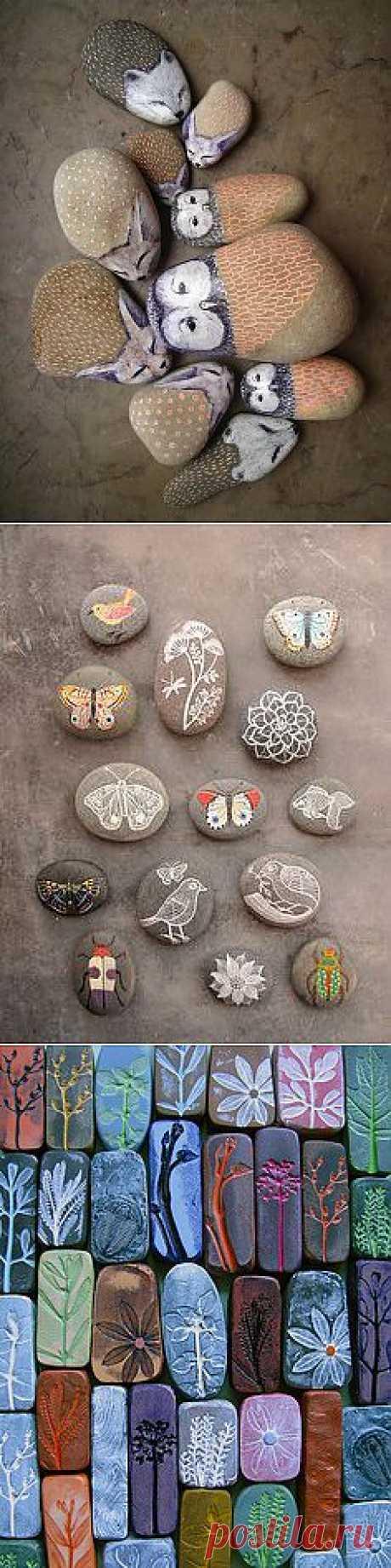 раскрашивание камней для детских игр
