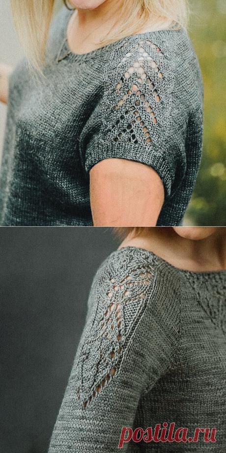 Акцент на плечи. Красивые узоры спицами со схемами | Вязунчик — вяжем вместе | Яндекс Дзен