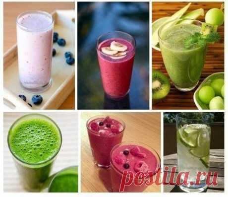 Утренние бодрящие коктейли для тех, кто на диете - Полезные советы красоты