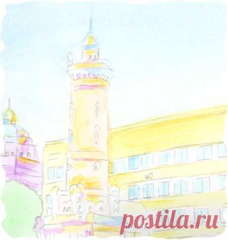 Омск | Акварель | Персональная именная сказка | Лес Солнца | Lessolnca.ru