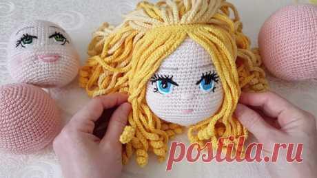 Как сделать волосы для вязаной куклы: подробные МК