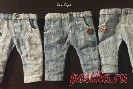 МК: джинсы для куклы | all Dolls