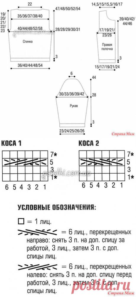 Схема незабудок крестиком