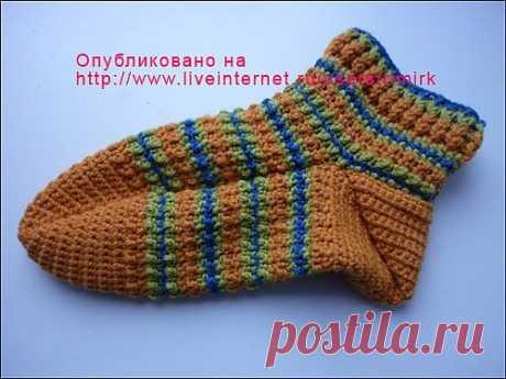 Вязание носков крючком (подробный МК от Валерии-lerrik).