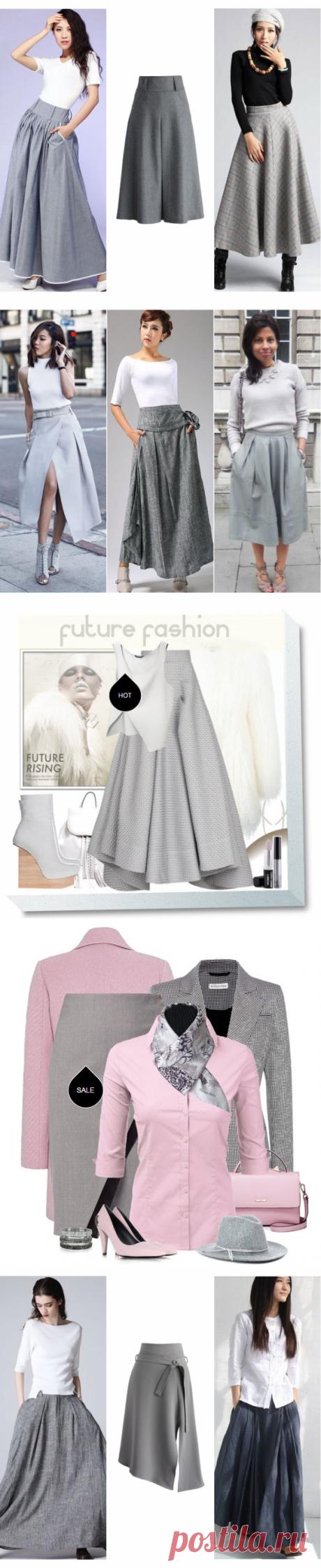 Модная серая юбка - с чем носить? — Модно / Nemodno