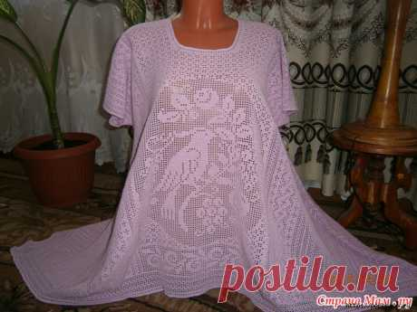 Tunic * the Paradise birdie * in BOHO style a hook master class
