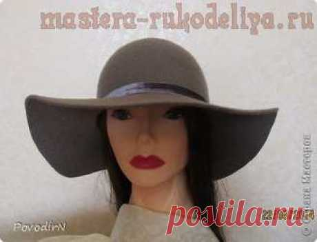 Master class in a wet fulling: Female hat