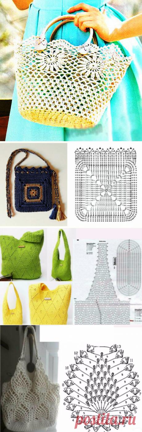 Соблазнительная подборка сумок, связанных крючком! Идеи и схемы для вязания! | Юлия Жданова | Яндекс Дзен