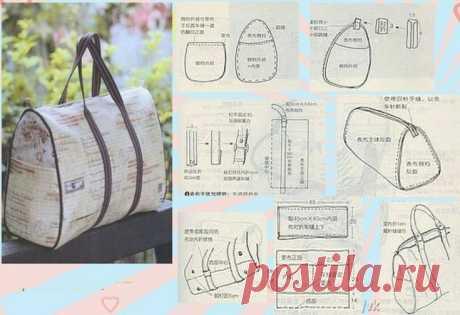 Выкройки сумок (подборка) / Простые выкройки / ВТОРАЯ УЛИЦА