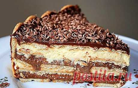 Бразильский торт «Павэ» - варенка, желтки, сливки, печенье, какао, арахис, вишня.