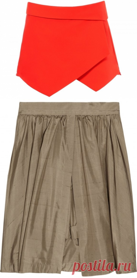 With what to wear a skirt shorts.