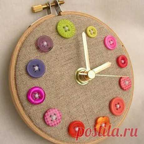 Оригинальные часы своими руками | Интерьер и Дизайн
