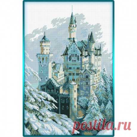 "Зимний замок крестом ""Castle in Winter"""