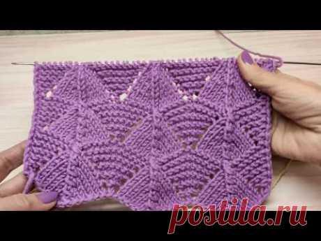 Узор для весеннего кардигана, свитера или кофты.Вязание спицами.