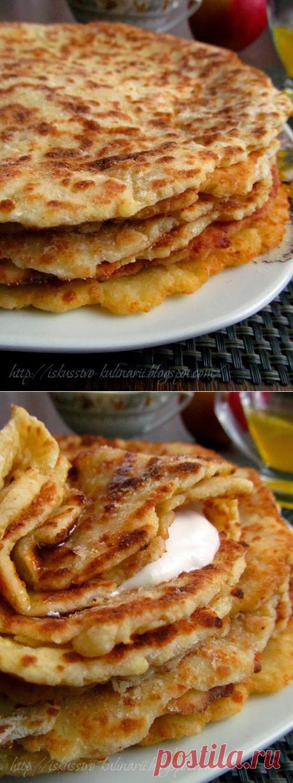 Постигая искусство кулинарии... : Финские творожно-яблочные лепешки.