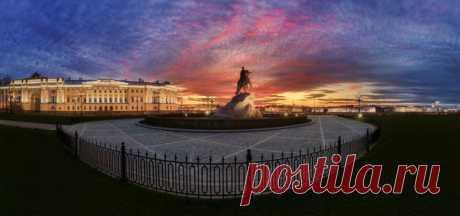 Закат в Санкт-Петербурге. Автор фото – Михаил Проскалов: nat-geo.ru/community/user/181006