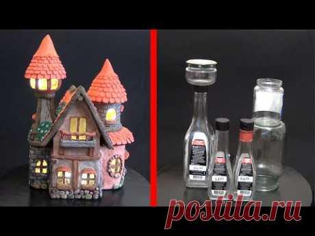 Дом Феи из Бутылок | Как сделать сказочный дом из бутылок своими руками