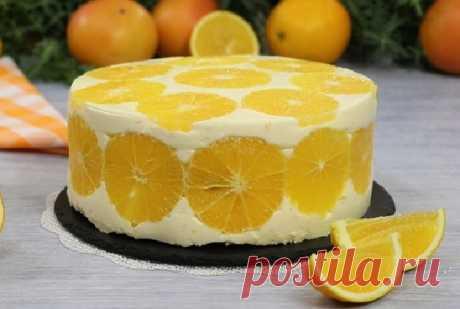 Муссовый торт «Апельсин с апельсином в апельсине» — Сад Заготовки