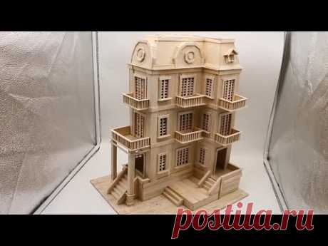 Building popsicle stick Mansion House - Popsicle Stick Edifice - Architecture