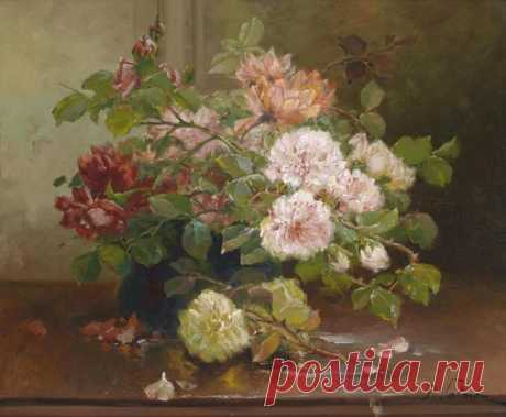 Charlotte Beauparlant (French, active 1890s): Still Life with Flowers