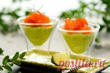 Закуска из семги и авокадо - На изумрудных волнах