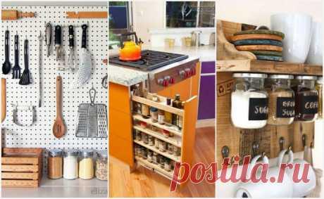 Если на кухне не развернуться: 19 очень практичных идей хранения для маленькой и тесной комнаты . Милая Я