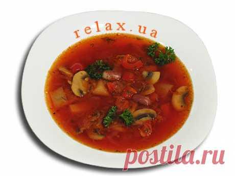 Постный борщ с фасолью и грибами » Рецепт, фото постного борща » Relax.UA