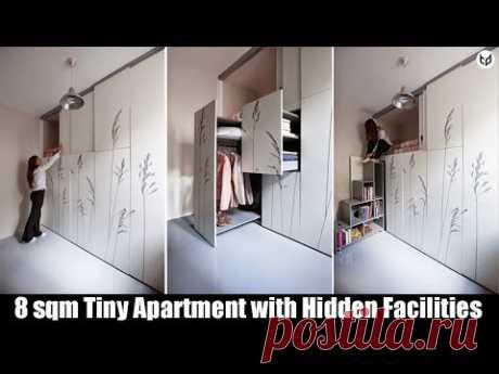 8 sqm Tiny Apartment with Hidden Facilities in Paris