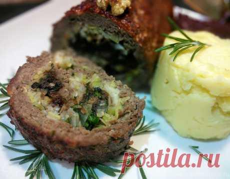 Говяжий рулет с черносливом и грецким орехом | Официальный сайт кулинарных рецептов Юлии Высоцкой