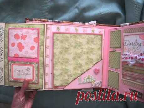 Baby Girl Scrapbook Mini Album (based on my interactive 8x8 album tutorial)