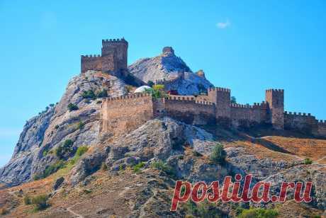 Генуэзская крепость Горы. Судак, Крым, Россия